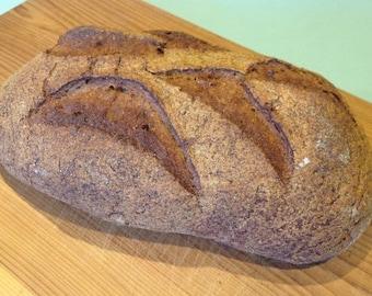 Buckwheat & Molasses Artisan Bread recipe (gluten free, no dairy, no gum)