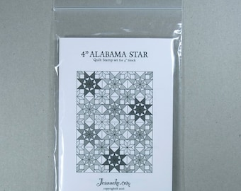 """4"""" ALABAMA STAR Quilt stamp set (only rubbers)"""