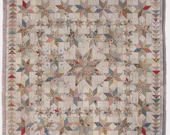 ENGLISH PDF Victoria Quilt Pattern print size US Letter (10 pages)