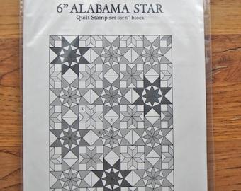"6"" ALABAMA STAR Quilt stamp set"