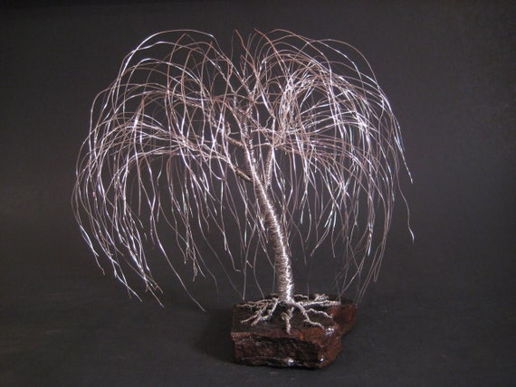 Weeping Willow Tree Sculpture | Great Anniversary Gift | Silver Anniversary Gift | Christmas Gift