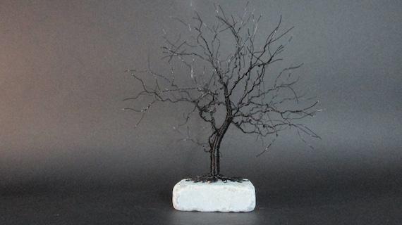 Black Tree Sculpture | Black Tree Art | Black Art Sculpture