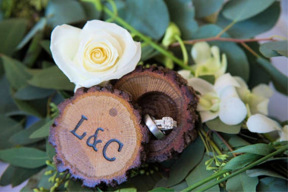 Ring Box for Proposals, Wedding Ring Box, Rustic Wooden Ring Box Great for Country Weddings