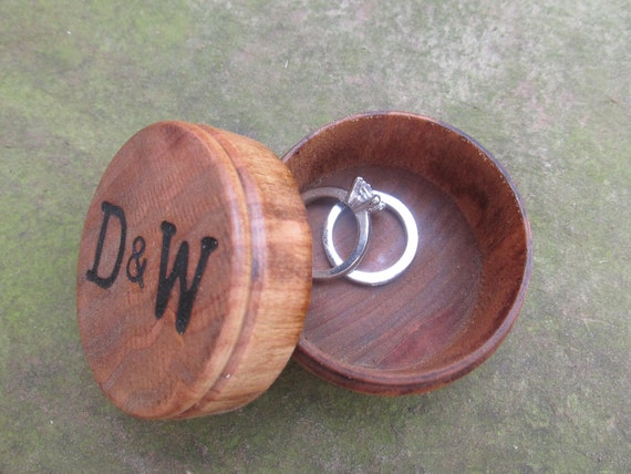 Personalized Wedding Ring Box Ideas | Wooden Ring Box | Ring Bearer Pillow Alternative | Wood Ring Box for Wedding Rings | Proposal Box
