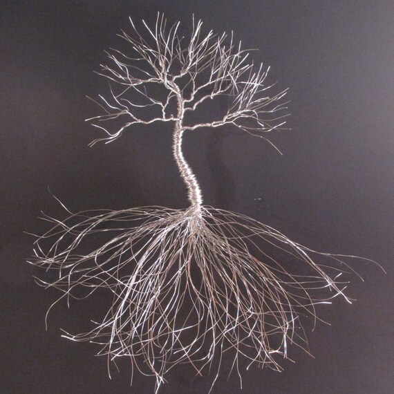 Wire Oak Tree Sculpture Wall Decor | Wire Wall Art | Hanging Tree Of Life