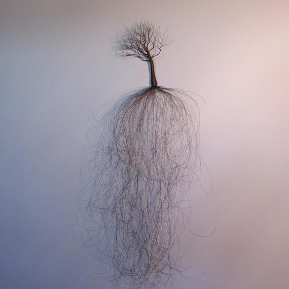 Wire Tree Sculptures - Art by Ken Phillips
