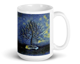 Inspired by Vincent Van Gogh's Starry Night Coffee Mug | Unique Coffee Mug Art