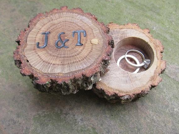 Oak Ring Box | Ring Bearer Box | Engagement Ring Box | Wedding Ring Box | Wood Ring Box