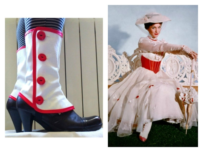 Spats, Gaiters, Puttees – Vintage Shoes Covers BLACK FRIDAY SALE Mary Poppins Medium white spats waterproof cosplay Gaiters $25.61 AT vintagedancer.com