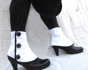 Low spats waterproof with buttons victorian steampunk Gaiters bootcover