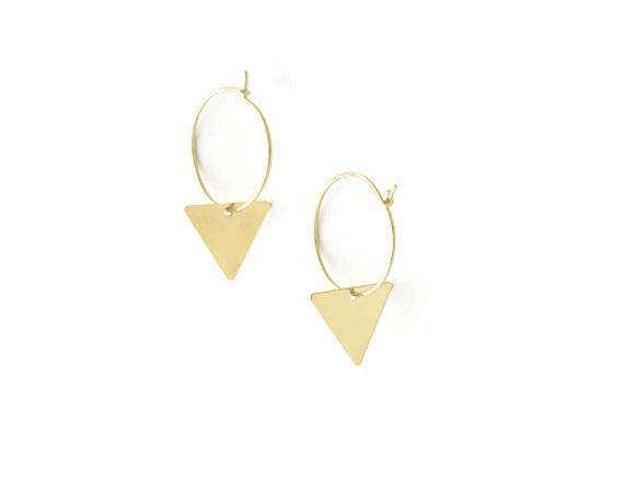 Earrings Flore brass gold filled 24k
