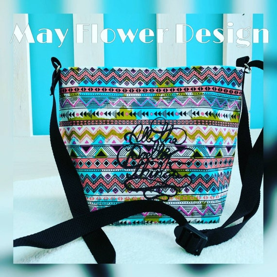 Azteca Bag / Crossbody Bag / Tribal Bag / Tribal Crossbody Bag / Bags and Purses / Gypsy Bag / Custom Bag