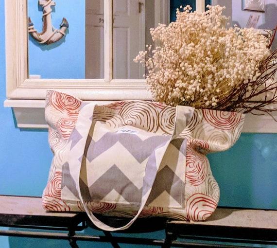 Market Bag / Beach Tote Bag / Large Beach Bag / Shopping Bag / Market Tote Bag / Vegan Bag / Eco-friendly Bag/ Grocery Bag / Handcrafted Bag