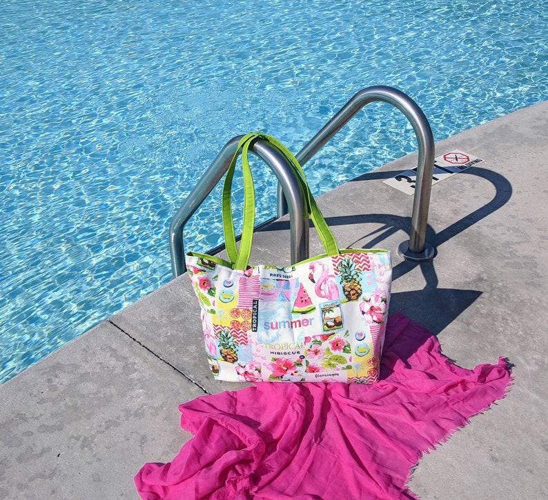 Flamingo Beach  Bag Pineapple Beach Bag