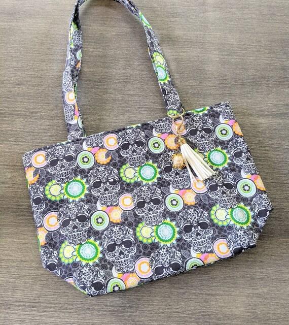 Skull Tote Bag/Skull Bag/ Custom Made/Tote Bag /Gothic Bag