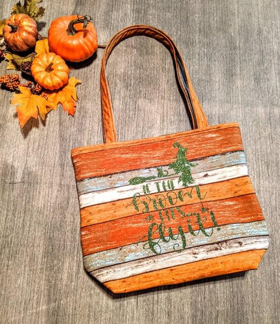 Fall Bag / Halloween Bag / Fun Witch Tote Bag