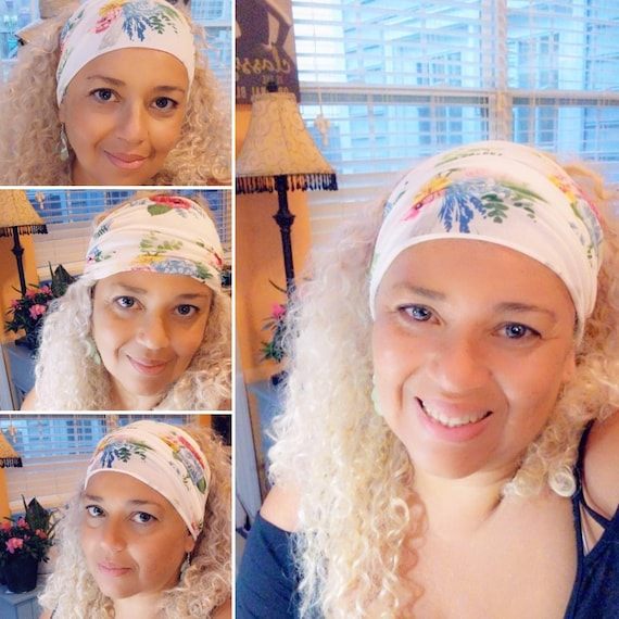 Boho Bandeau Headband / Stretchy Headband / Face Mask / Yoga Headband