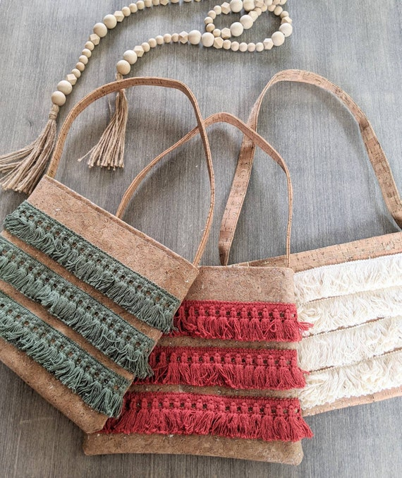 Cork Boho Small  Bag / Boho Cork Shoulder Bag