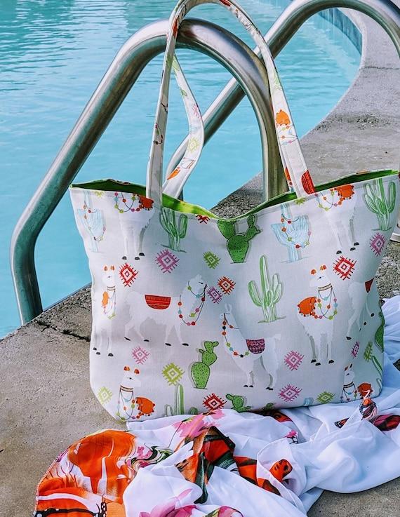 Large Llama Cactus Bag/ Cactus Beach bag