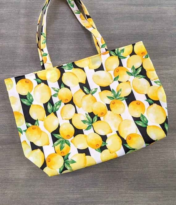 Lemon Large Beach Bag