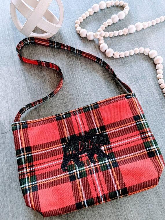 Buffalo plaid bag / Shoulder Bag / Mama Bear Bag