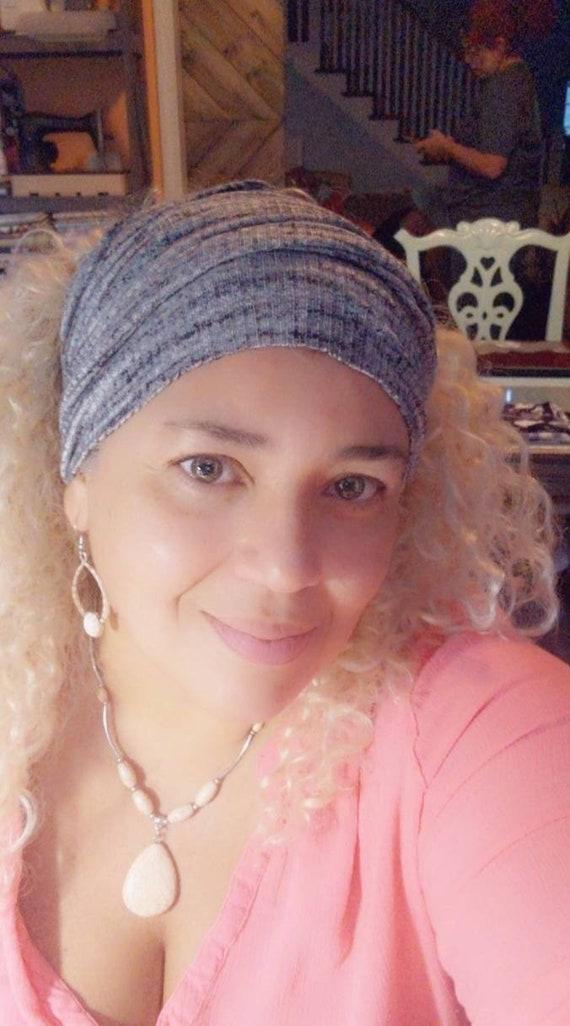 Bandeau Headband / Gray  Boho Bandeau