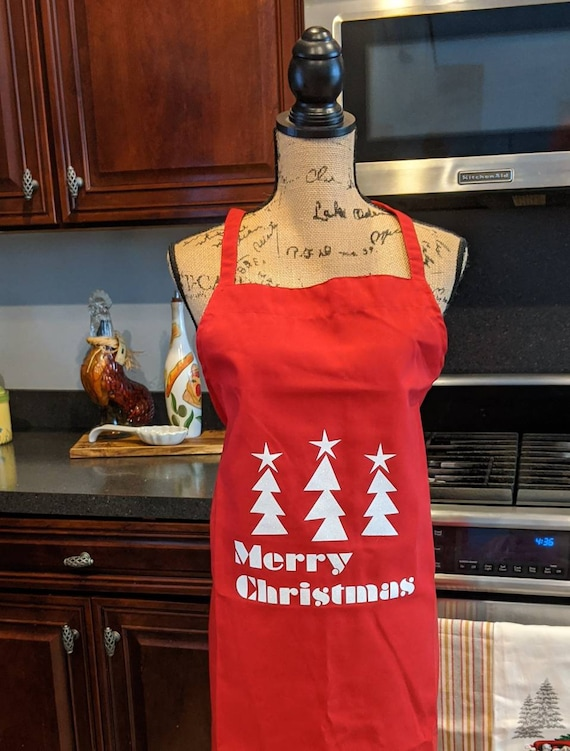 Christmas Apron / Red Christmas Apron