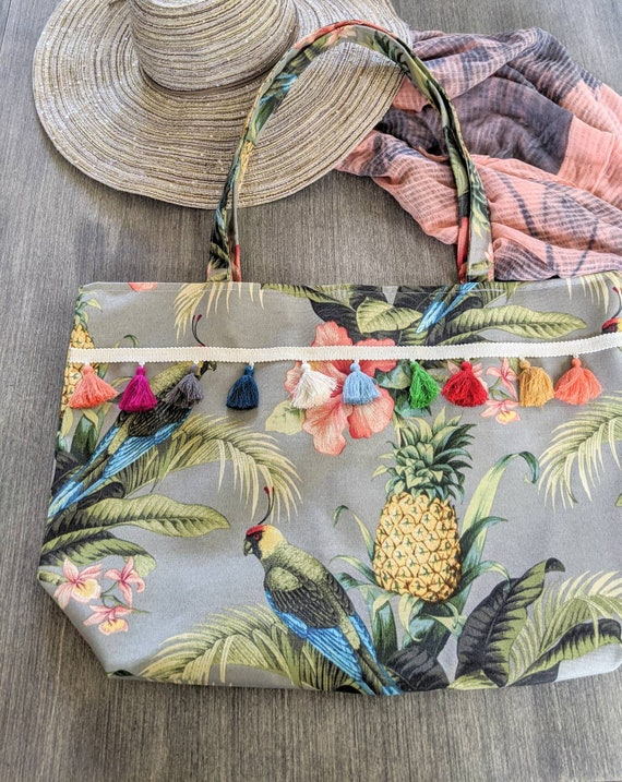 Pineapple Tropical Beach Bag