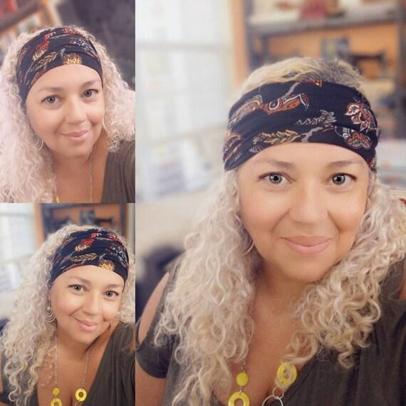 Boho Bandeau Headband / Bandeau / Yoga Headband / Hippie headband