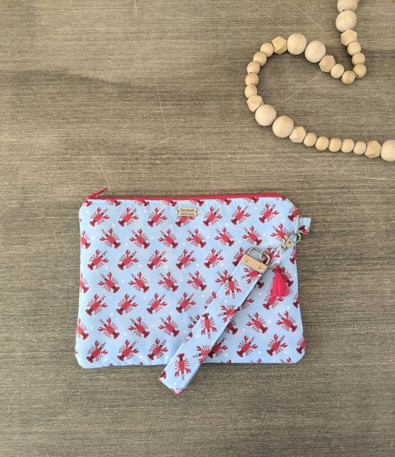 Lobster Wristlet Bag / Clutch