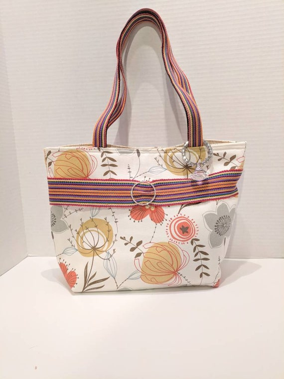 Floral Tote Bag/Tote Bag/Floral Purse/Bags and Purses/Custom Made