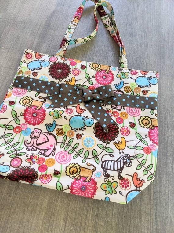Tote Bag Animal Printed Handbag / Large Tote Bag / Custom Bag / Animal Print Bag