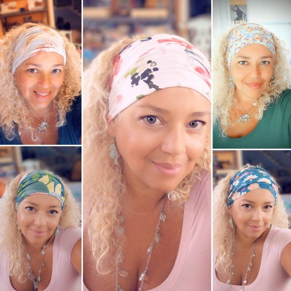 Pineapple Headband / Boho Bandeau Headband / Floral Headband / yoga headband / Feather Headband