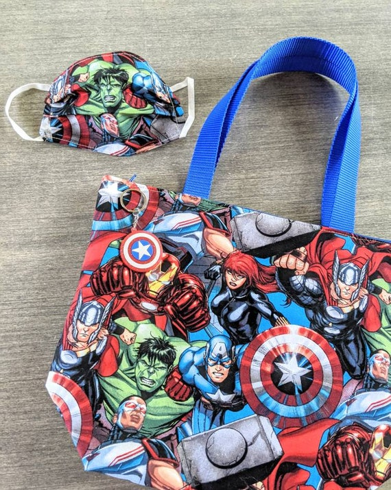 Marvel Insulated lunch bag / Super heroes lunch bag/ comic books lunch bag