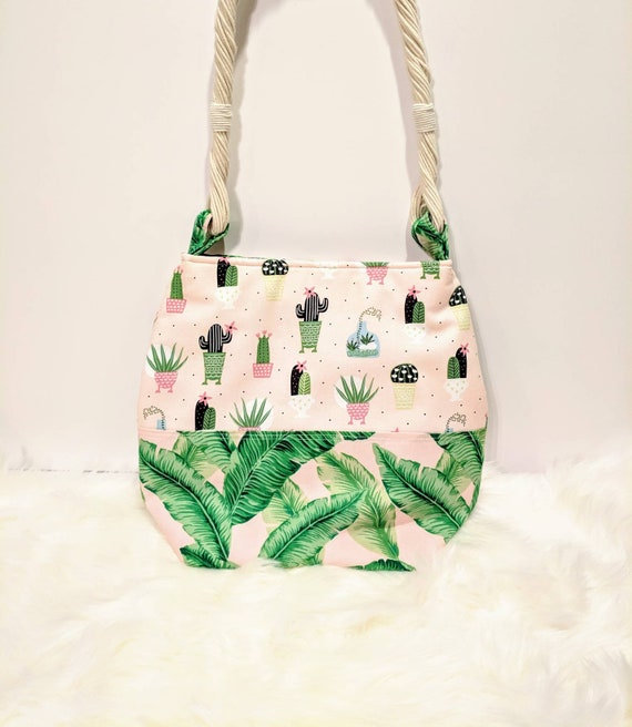 Cactus Tote Bag / Cactus Bag /Everyday Bag /Tropical Bag / Spring Bag / Cute Bag / Women Bag