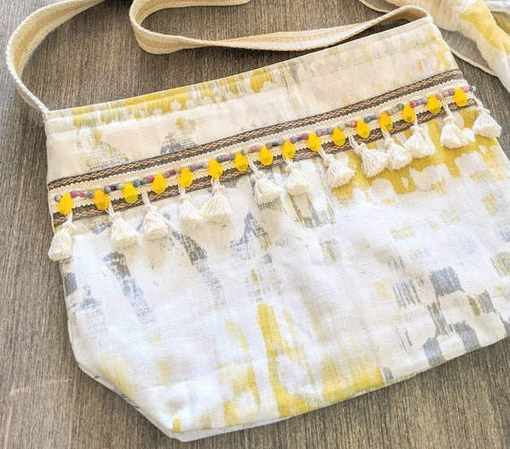 Boho Shoulder Bag / Yellow Shoulder Bag