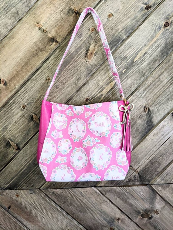 Breast Cancer Shoulder Bag / Pink Shoulder Bag