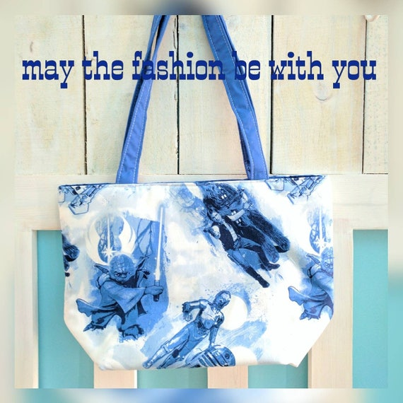 Blue white Star Wars Tote Bag / Star Wars Bag / Star Wars Tote