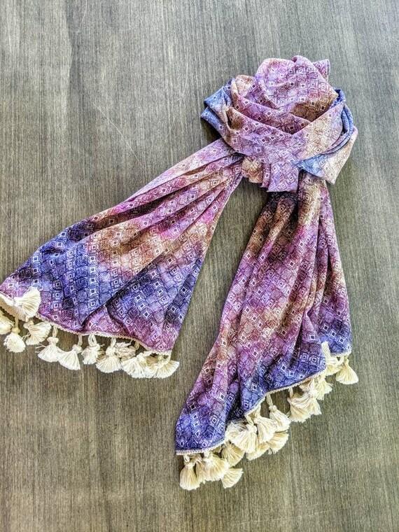 Purple Scarf / Tassel Scarf