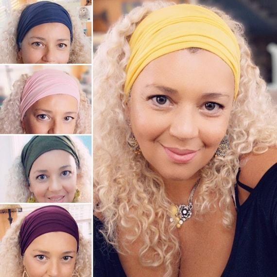 Boho Bandeau Headband/ Yoga Headband /Headband / pink bandeau headband
