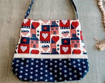 Patriotic Bag / American Tote Bag
