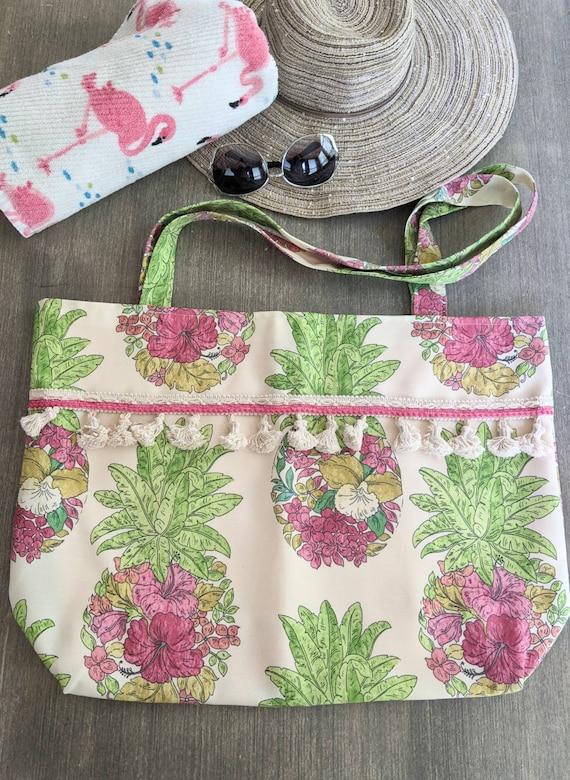 Pineapple Beach Bag / Large Tote Bag