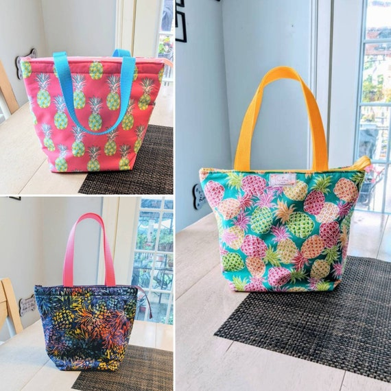 Pineapple Insulated Lunch Bag