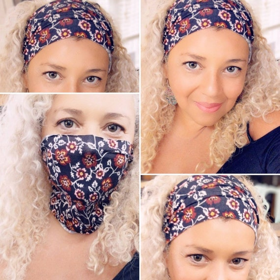 Boho Bandeau Headband / Headband / Face Mask / Yoga Headband