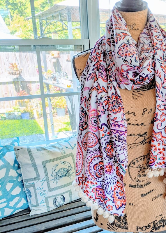 Scarf / Large Floral Scarf