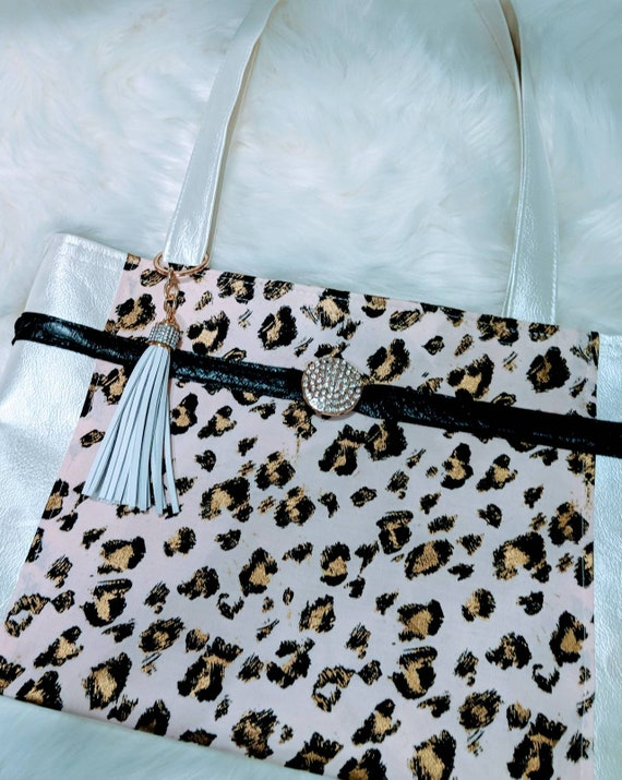 Pink Leopard Shoulder Bag