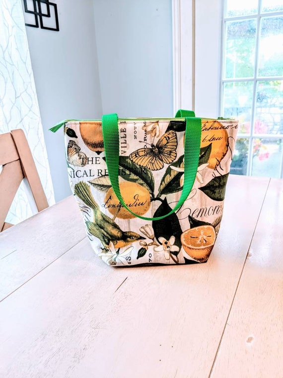 Lemon Lunch Bag / Insulated Lunch Bag