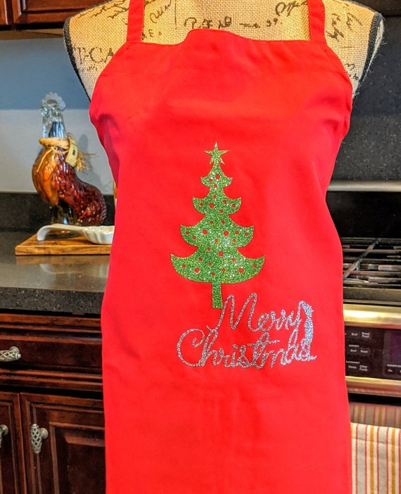 Merry Christmas Apron / Red Apron