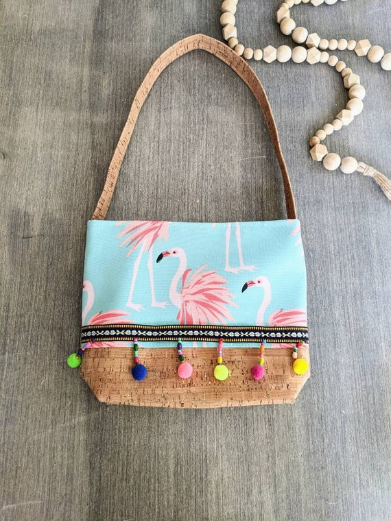 Cork Flamingo Shoulder Bag