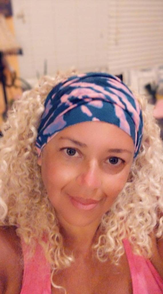 Boho Bandeau / Pink tie dye Bandeau / Headband